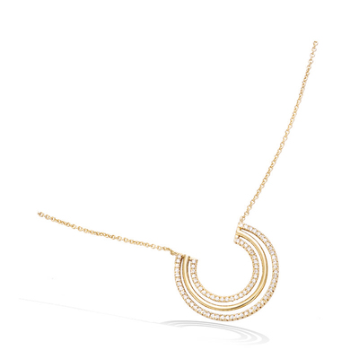 3 Microns Gold Plated Necklace 52HU0640CZ