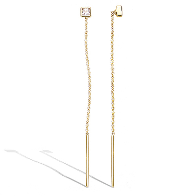 3 microns gold plated earrings 22ev0100cz