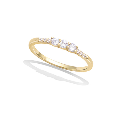 3 Microns Gold Plated Ring 12EV0070CZ