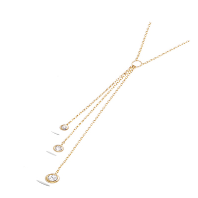 3 Microns Gold Plated Necklace 52HU0920CZ