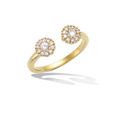 法国3微米镀金首饰 18K包金戒指 12HU0550CZ