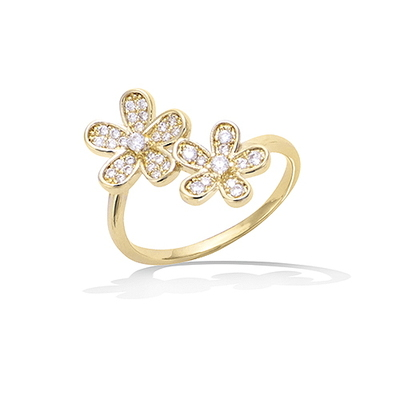 3 Microns Gold Plated Ring 12EV0620CZ