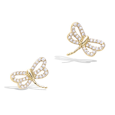 3 Microns Gold Plated Earrings 22EV0580CZ