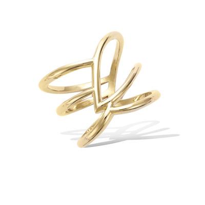法国3微米镀金首饰 18K包金戒指 12HU0290