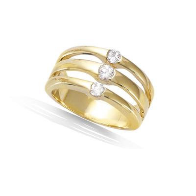 法国3微米镀金首饰 18K包金戒指 12HU1230CZ