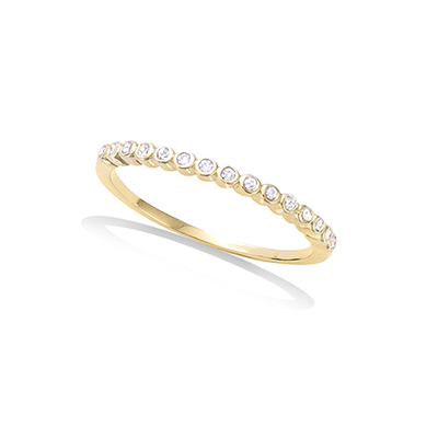 3 Microns Gold Plated Ring 12EV0330CZ
