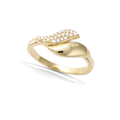 法国3微米镀金首饰 18K包金戒指 12HU0030CZ