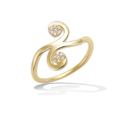 法国3微米镀金首饰 18K包金戒指 12HU1200CZ