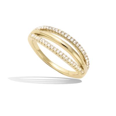 法国3微米镀金首饰 18K包金戒指 12HU0640CZ