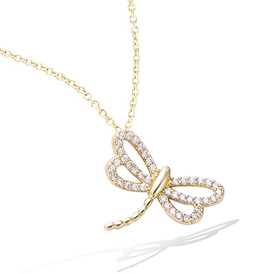 3 Microns Gold Plated Pendant 62EV0580CZ