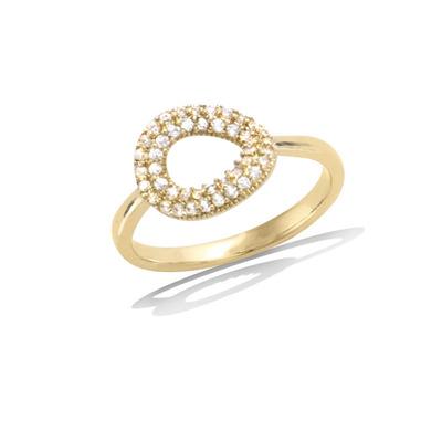 法国3微米镀金首饰 18K包金戒指 12HU0580CZ