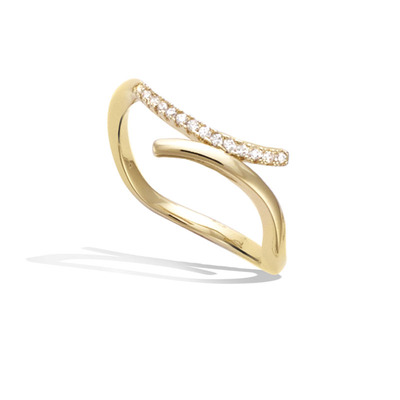 3 Microns Gold Plated Ring 12HU1020CZ