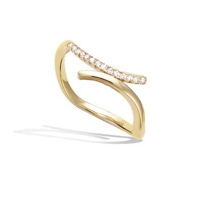 法国3微米镀金首饰 18K包金戒指 12HU1020CZ