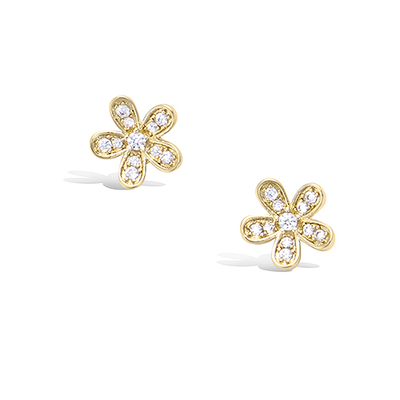 3 Microns Gold Plated Earrings 22EV0620CZ