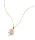 3 Microns Gold Plated Pendant 62HU1270PK